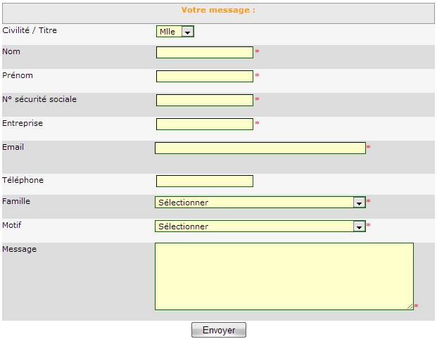 Page contact Mercernet