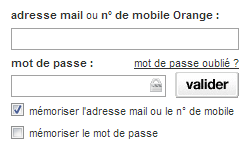 Identification à votre messagerie Orange